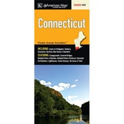 Universal Map Connecticut State Map Fold Map