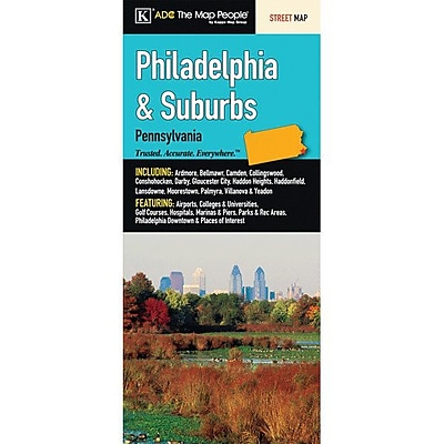 Universal Map Philadelphia and Suburbs Fold Map WYF078277169785