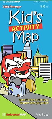 Universal Map Kid's Travel Activity Map