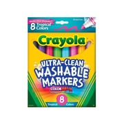 Crayola Washable Markers Tropical 8 Pk