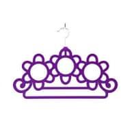 Home Basics Flower Scarf Hanging Organizer (Set of 2); Purple