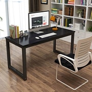 Ebern Designs Capson Writing Desk To 55u0027u0027 Large Computer Desk For Home  Office;