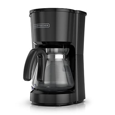 Black + Decker 5-Cup 4-in-1 Station Stainless Steel Coffee Maker; Black