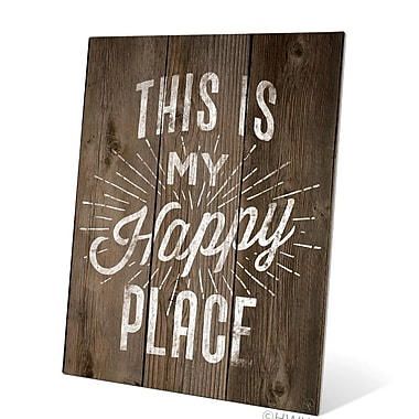 Loon Peak 'This Is My Happy Place' Textual Art Plaque; 10'' H x 8'' W x 0.04'' D