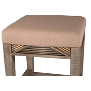 Bungalow Rose Alcanza Distressed Wood Bar Stool