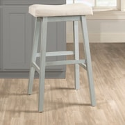 Highland Dunes Angelique Non-Swivel Backless Counter Bar Stool