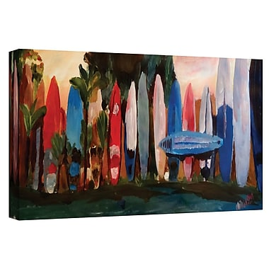 Bay Isle Home 'Surf Wall 1' Painting Print on Wrapped Canvas; 16'' H x 48'' W