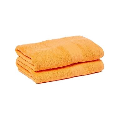 Winston Porter Peabody 2 Piece Bath Towel Set (Set of 2); Orange