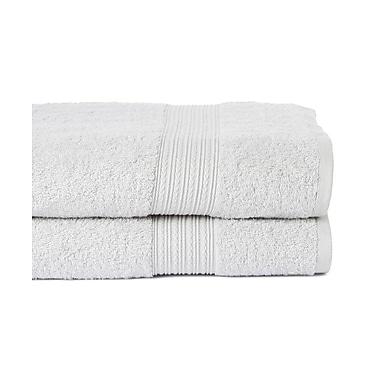 Winston Porter Peabody 2 Piece Bath Towel Set (Set of 2); Silver