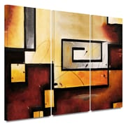 Latitude Run 'Abstract Modern' 3 Piece Graphic Art on Wrapped Canvas Set; 18'' H x 42'' W x 2'' D