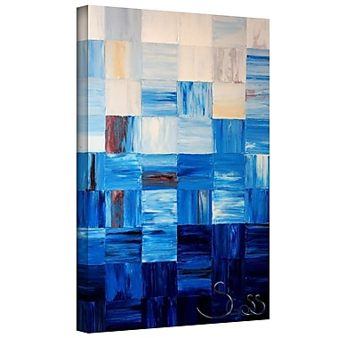 Latitude Run 'Bluesquares' Painting Print on Wrapped Canvas; 36'' H x 24'' W