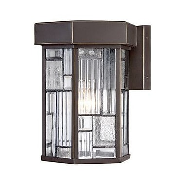 Latitude Run Cochecton 1-Light Outdoor Wall Lantern; 13.25'' H x 10'' W x 10'' D