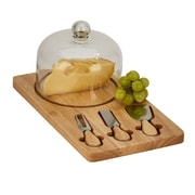 Creative Gifts International 5 Piece Wood Cheese Board w/ Dome Set