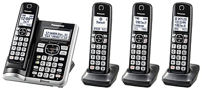 KX-TGF574S 4 handset Link2Cell Bluetooth Cordless Phone with Voice Assist and Answering Machine