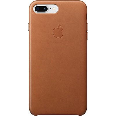 Apple Leather Case for iPhone 8 Plus and iPhone 7 Plus, Saddle Brown (MQHK2ZMand iPhoneA)