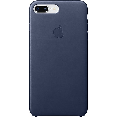 Apple Leather Case for iPhone 8 Plus and iPhone 7 Plus, Midnight Blue (MQHL2ZMand iPhoneA)