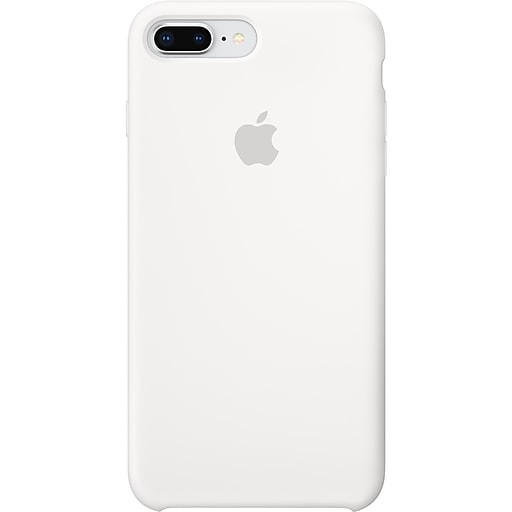 reputable site 19019 ab60c Apple Silicone Case for iPhone 8 Plus and iPhone 7 Plus, White (MQGX2ZMand  iPhoneA)