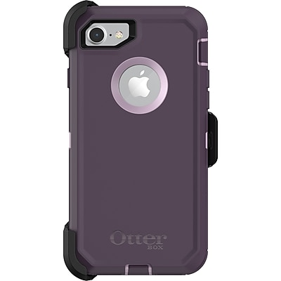 OtterBox Defender Carrying Case with Holster for iPhone 7 and iPhone 8, Purple Nebula (77-56605)