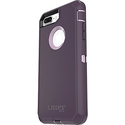 OtterBox Defender Carrying Case with Holster for iPhone 8 Plus, iPhone 7 Plus, Purple Nebula (77-56827)