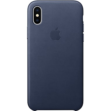 Apple Leather Case for iPhone X, Midnight Blue (MQTC2ZM/A)