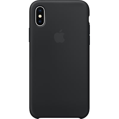Apple Silicone Case for iPhone X, Black (MQT12ZM/A)