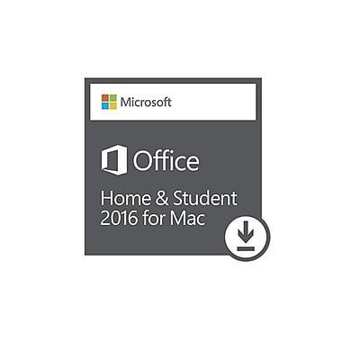 Microsoft Office Home and Student 2016 for Mac, Bilingual [Download]