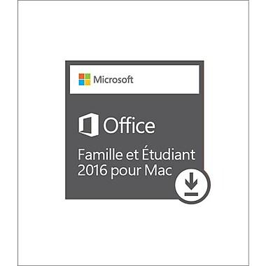 Microsoft – Logiciel Office Famille et Étudiant 2016 pour Mac, bilingue (téléchargement)
