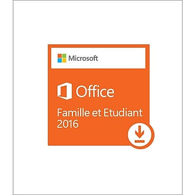 Microsoft - Windows Office Home and Student 2016, bilingue [téléchargement]