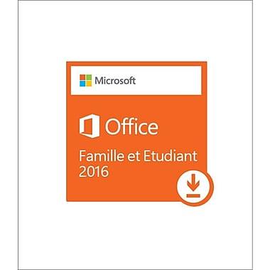 Microsoft – Logiciel Office Famille et Étudiant 2016, bilingue (téléchargement)
