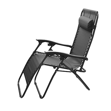 Global Phoenix – Chaise Zero Gravity, noir, 2/paquet (GPCT840 Black)
