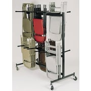 NPS® 84 Series Table and Chair Storage Truck With Checkerette Bars, Dark Brown