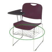 NPS Removable Book Rack For 8500 Series Stacking Chair, Chrome by