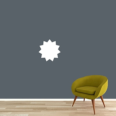 SweetumsWallDecals Dry Erase Star Brust Whiteboard Wall Decal; 12'' H x 12'' W