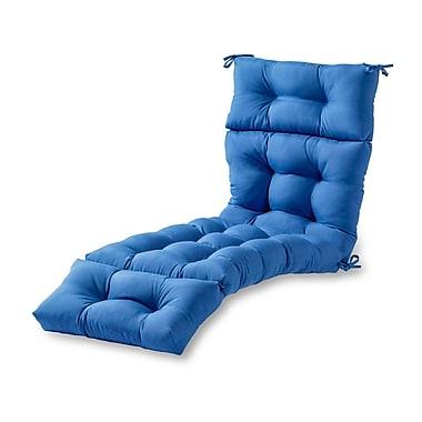 Red Barrel Studio Outdoor Chaise Lounge Cushion; Marine Blue