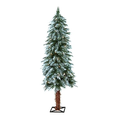 The Holiday Aisle 4' Frosted Alpine Christmas Tree w/ 70 Clear Lights