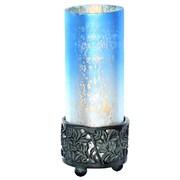 World Menagerie Cuevas Contemporary 8.8'' Torchiere Lamp; Blue White