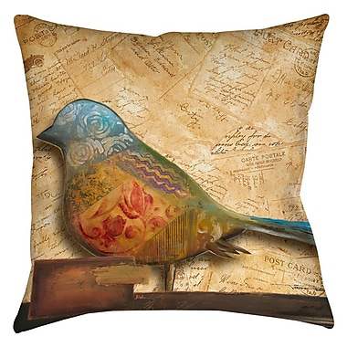 East Urban Home Square Bird Indoor/Outdoor Throw Pillow; 20'' H x 20'' W x 5'' D