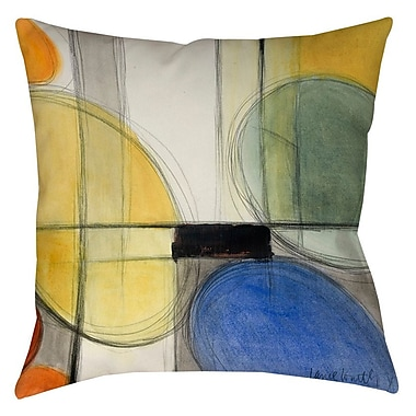 East Urban Home Geometric Indoor/Outdoor Throw Pillow; 16'' H x 16'' W x 4'' D