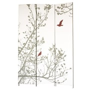 Ivy Bronx Bluestar 71'' x 48'' Bird 3 Panel Room Divider