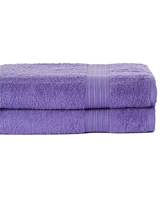 Winston Porter Peabody 2 Piece Bath Towel Set (Set of 2); Lavender