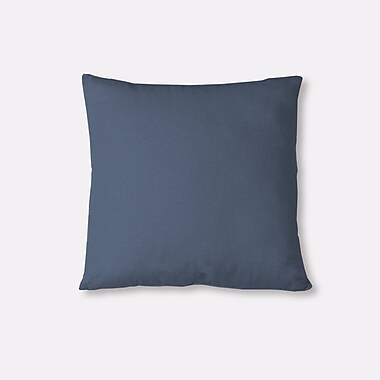 Latitude Run Salvaggio Edge Decorative Throw Pillow; Blue
