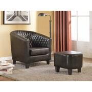 Latitude Run Salter Barrel Chair and Ottoman