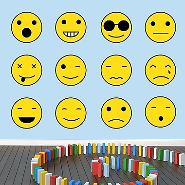 SweetumsWallDecals Emoji Smiley Faces Wall Decal; Large