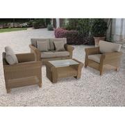 Darby Home Co Barrow 4 Piece Deep Seating Group w/ Cushions