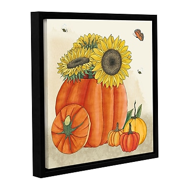 August Grove 'Harvest Pumpkin IV' Framed Painting Print on Wrapped Canvas; 24'' H x 24'' W x 2'' D