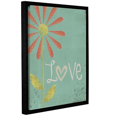 August Grove 'Love' Framed Textual Art on Wrapped Canvas; 18'' H x 14'' W x 2'' D