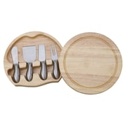 Creative Gifts International 5 Piece Wood Round Swiveling Cheeseboard