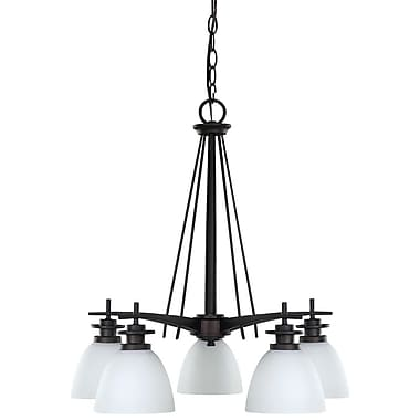 Charlton Home Stivers 5-Light Shaded Chandelier