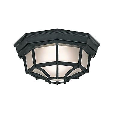 Charlton Home Slusser 1-Light Flush Mount; Black