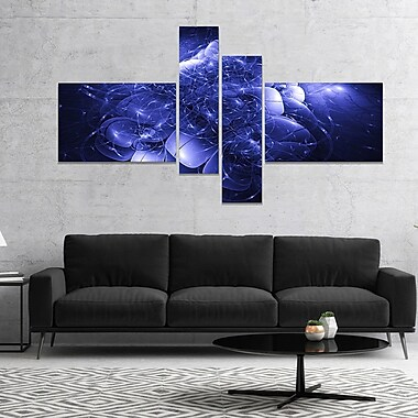 East Urban Home 'Alien Mystical Flower' Graphic Art Print Multi-Piece Image on Canvas in Blue